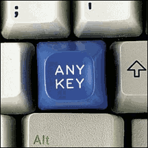 'press any key' image