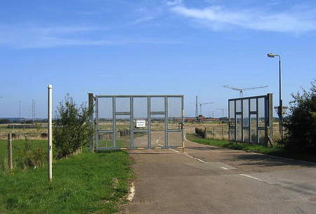 RAF Barford main gate